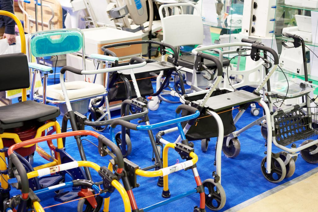 Walker or walking frame is a tool for disabled or elderly people