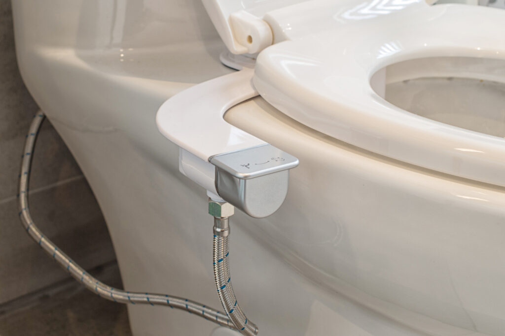 Way to save toilet tissues by using toilet bidet seat add on during covid 19 pandemic